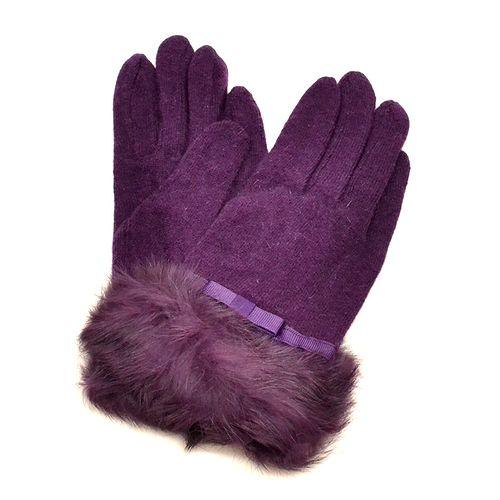 Перчатки с кроличьим мехом