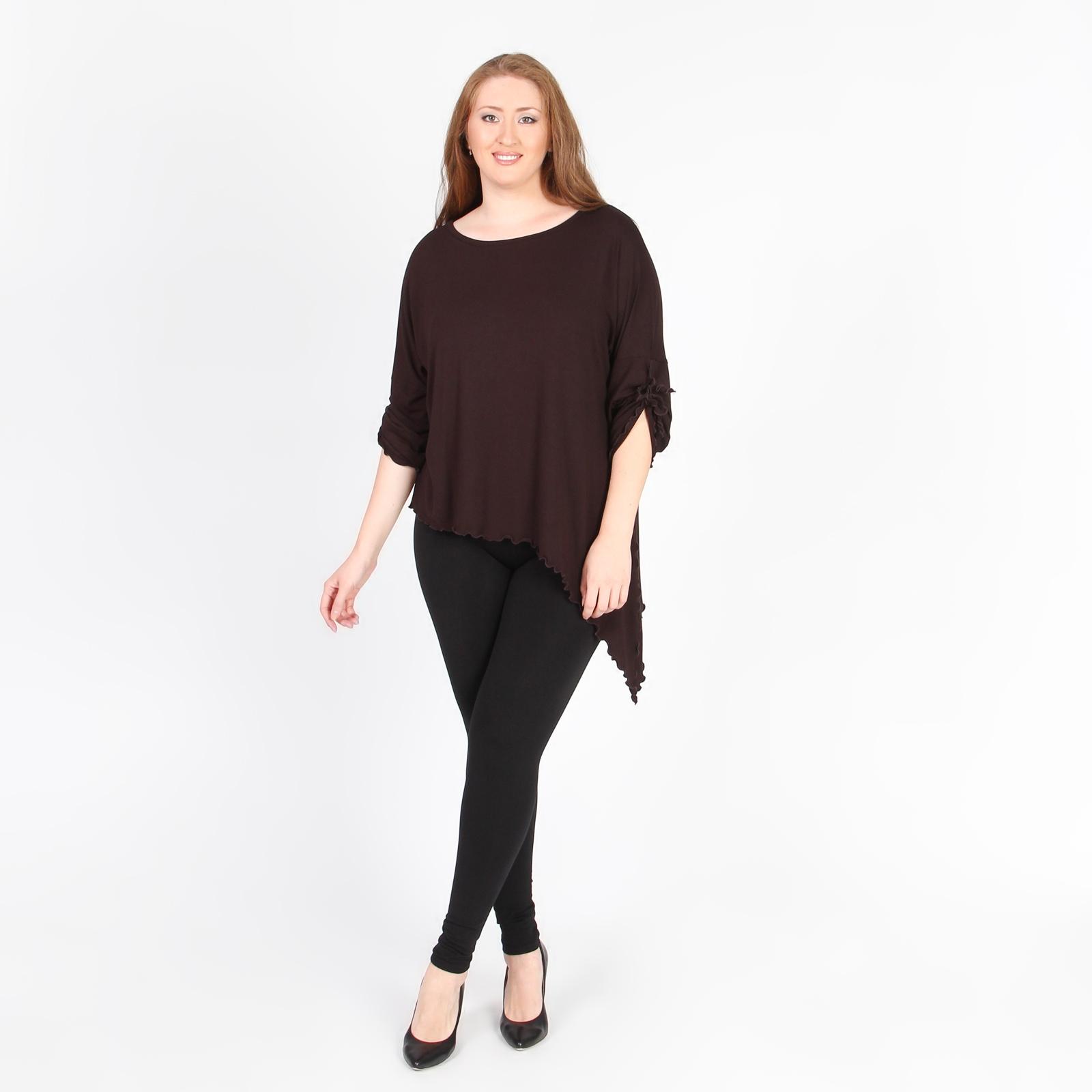 Блуза с асимметричным низом