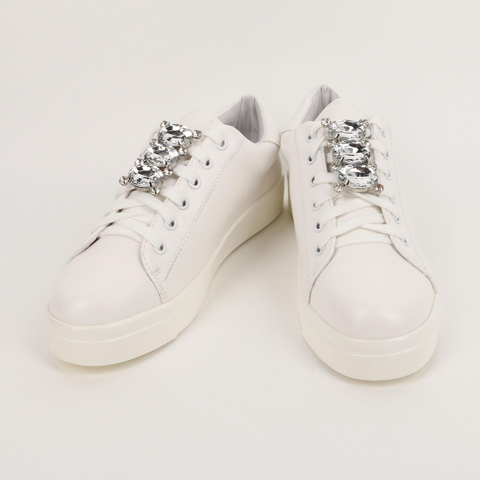 Кеды женские с украшением на шнурках