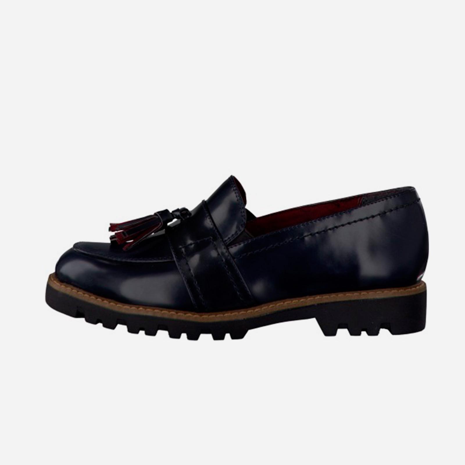 Туфли женские с декорированной кисточкой на мысу