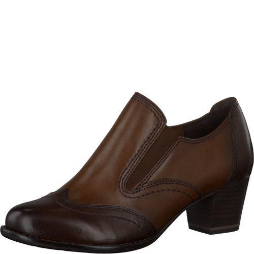 Туфли женские с эластичной вставкой и декоративной строчкой