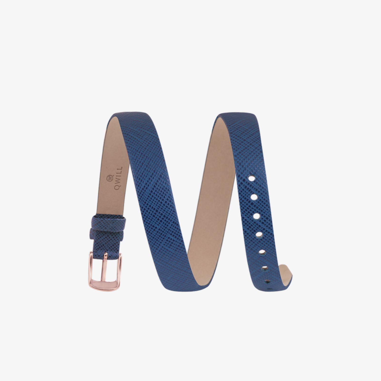 Кожаный браслет с накладкой «Капли»