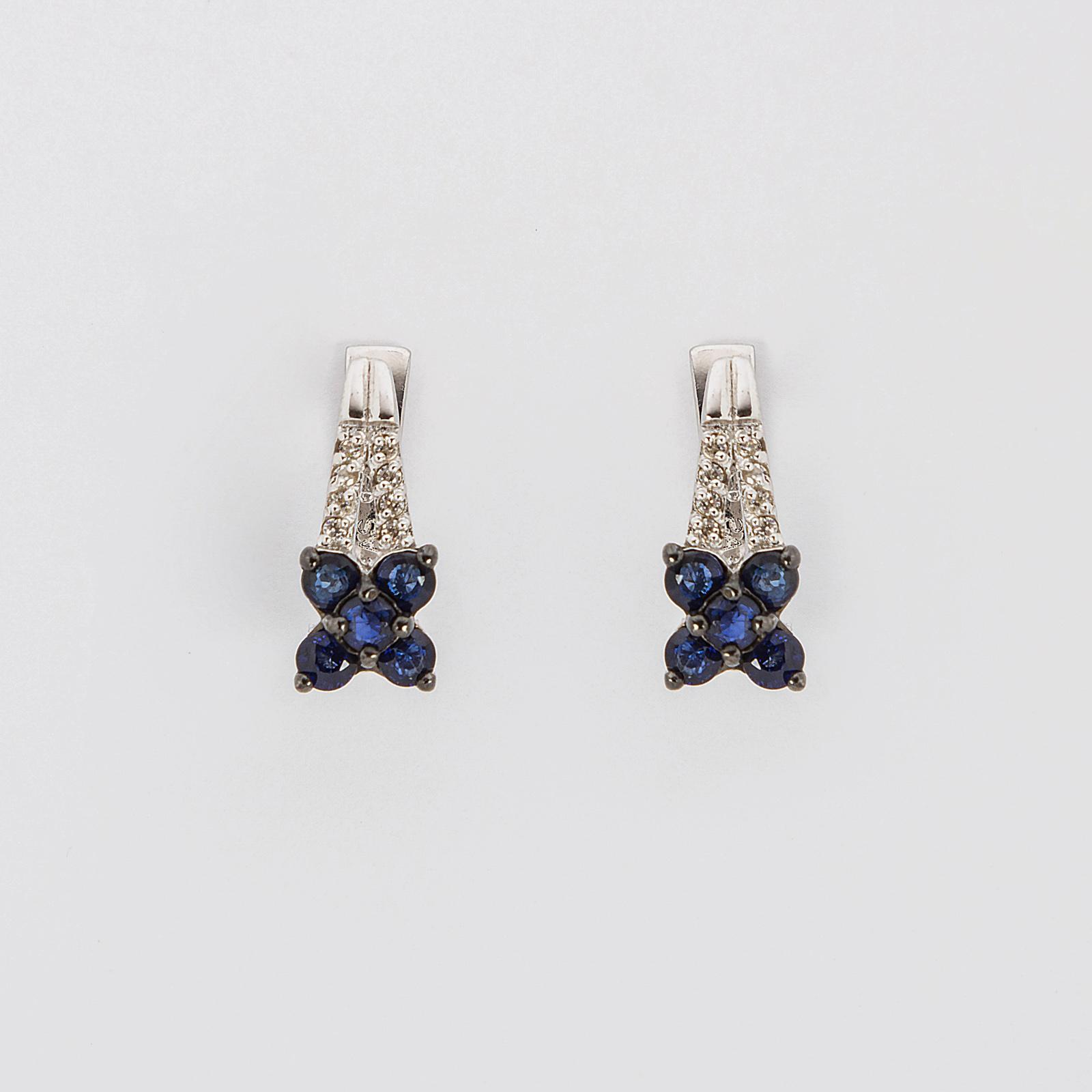 Серебряные серьги «Весенний цветок»