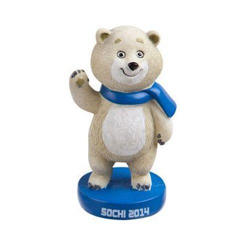 Подарочная фигурка-талисман «Белый Мишка» Сочи 2014