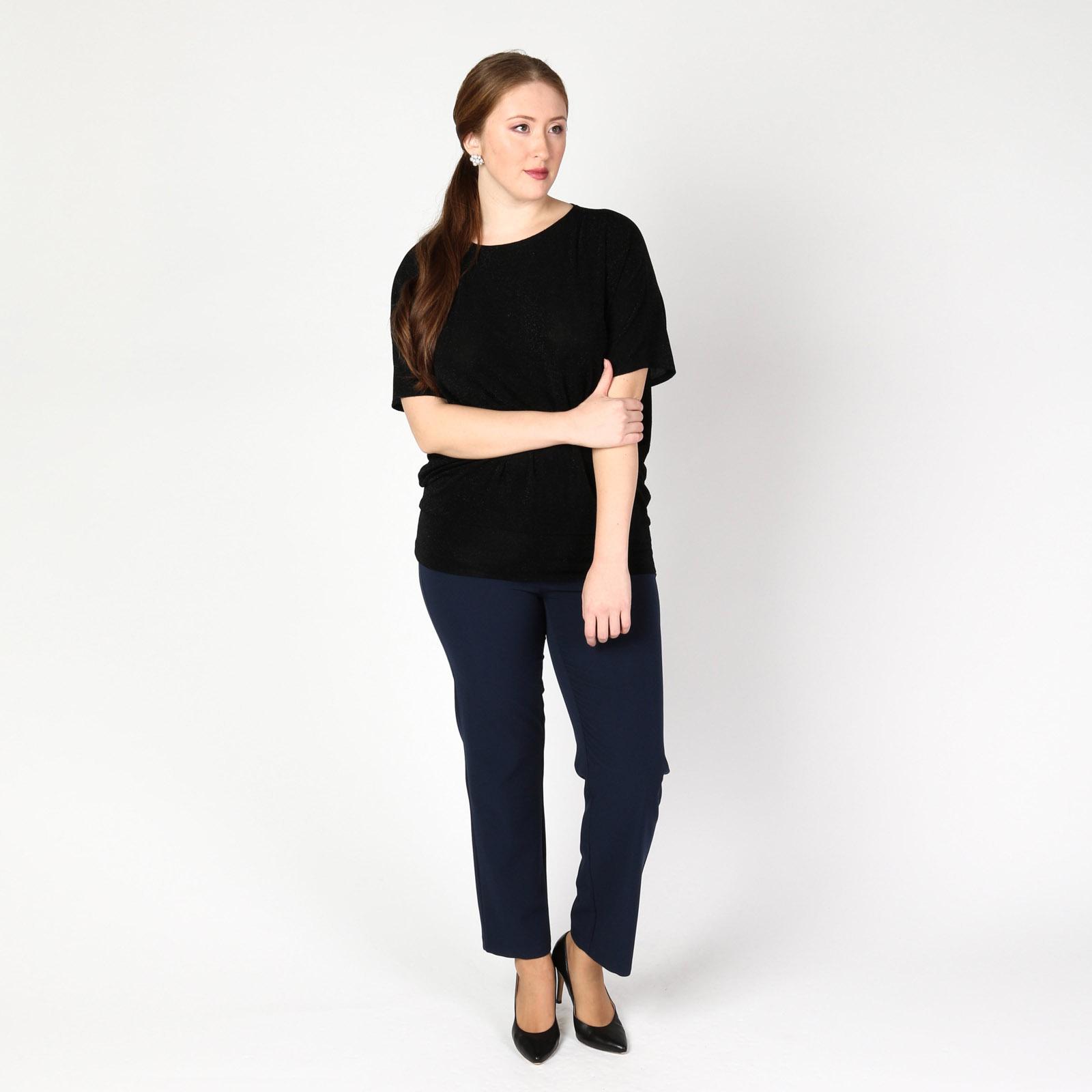 Блуза с люрексом и рукавами «летучая мышь»