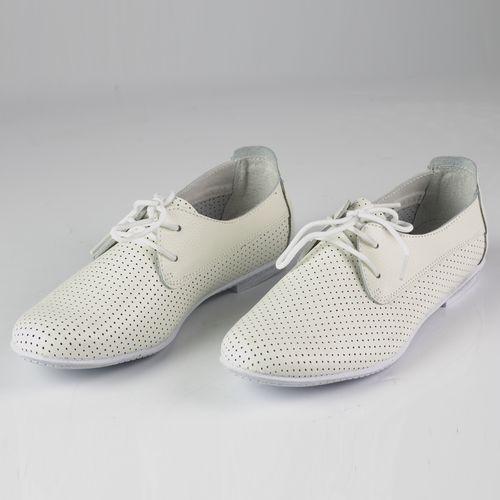 Ботинки женские на шнуровке перфорированные