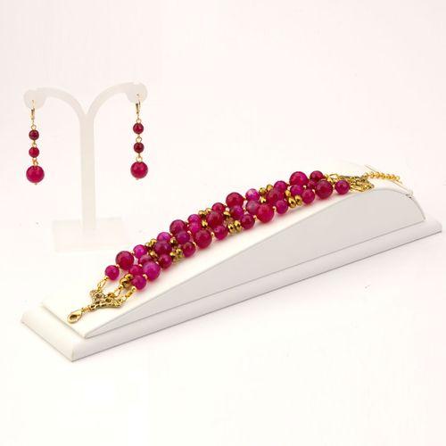 Комплект украшений «Пурпурный агат»