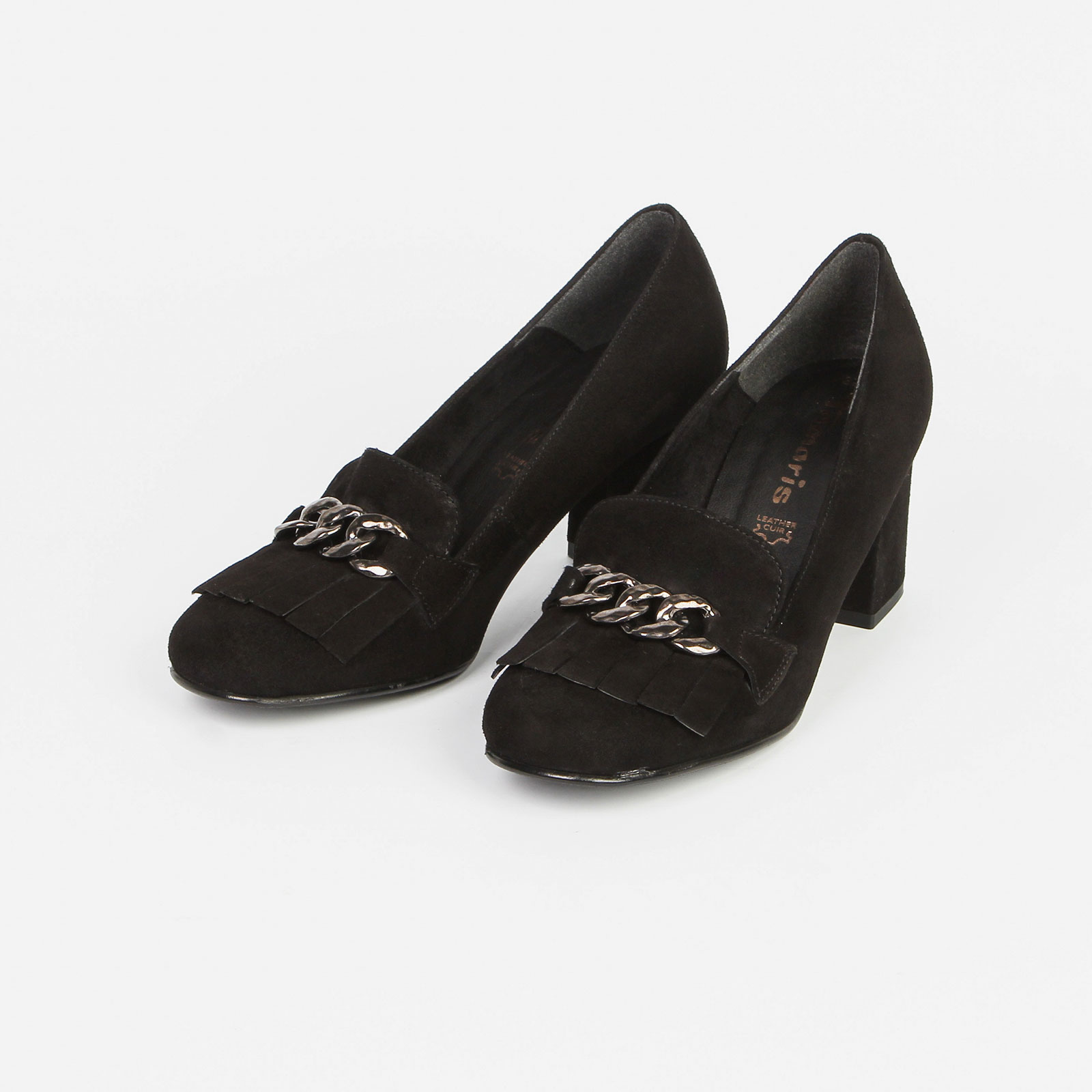 Туфли женские декорированные бахромой