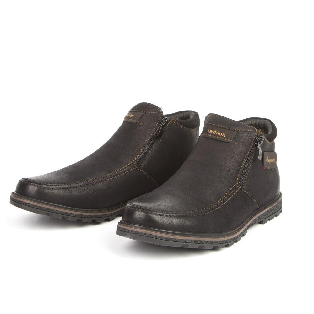 Ботинки мужские на рифленой подошве и молнии