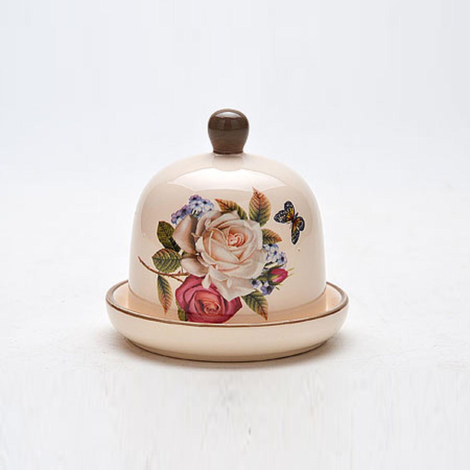 Лимонница с крышкой «Розы»