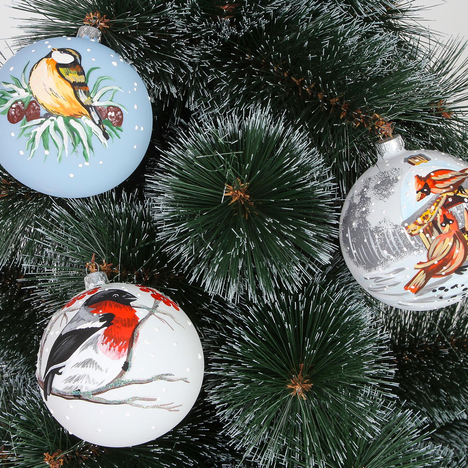 Набор шаров «Новогодние птицы»