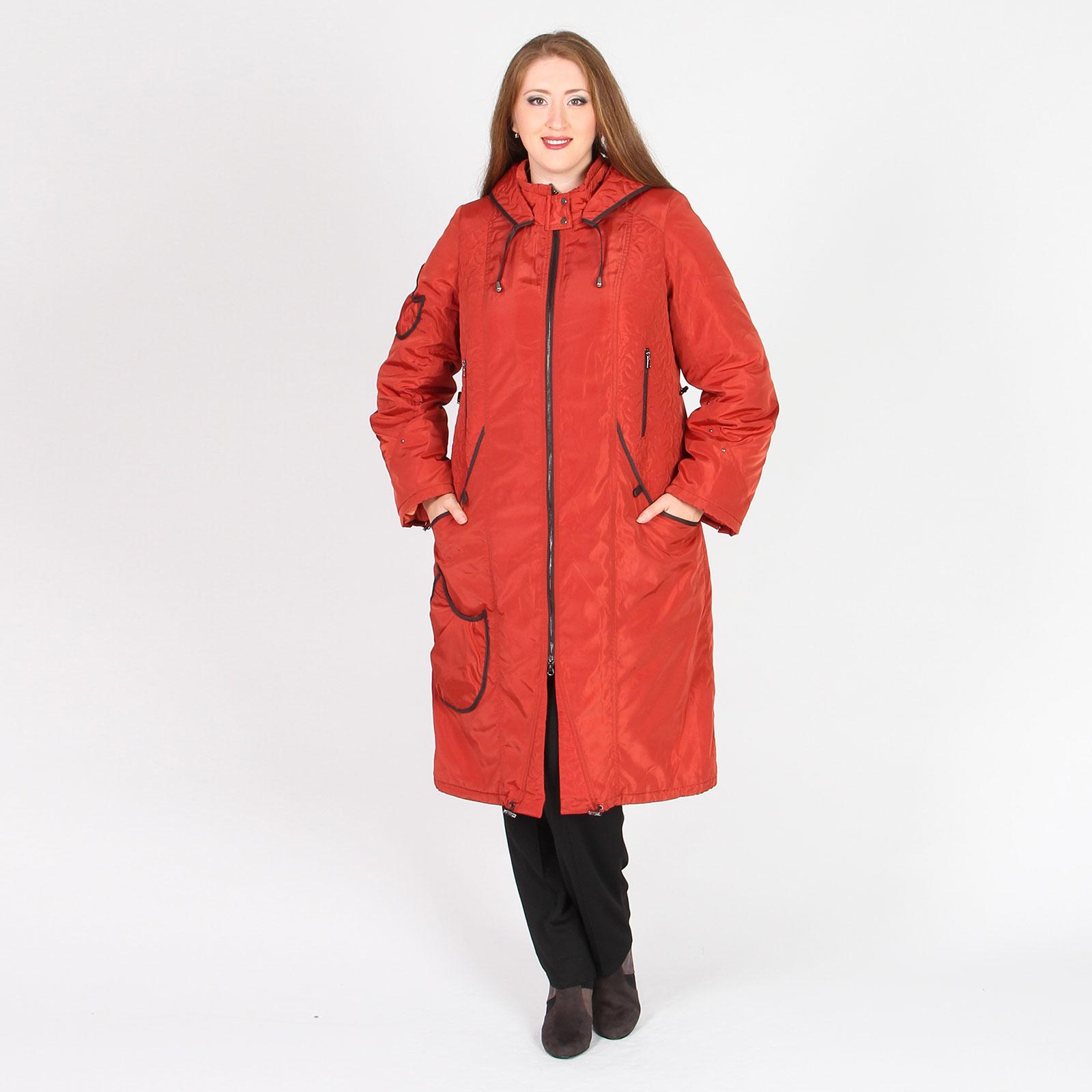 Пальто на молнии с капюшоном