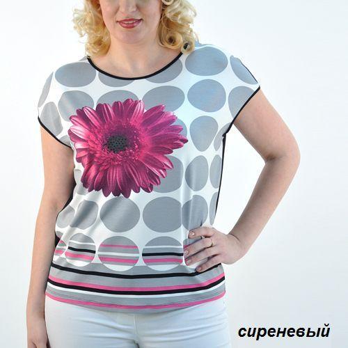Блуза со стразами и цветами