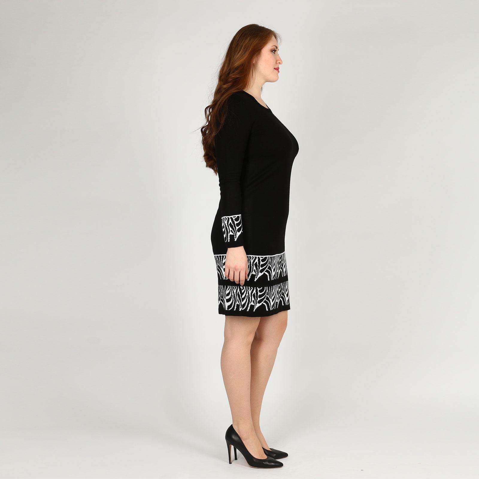 Платье-миди трикотажное