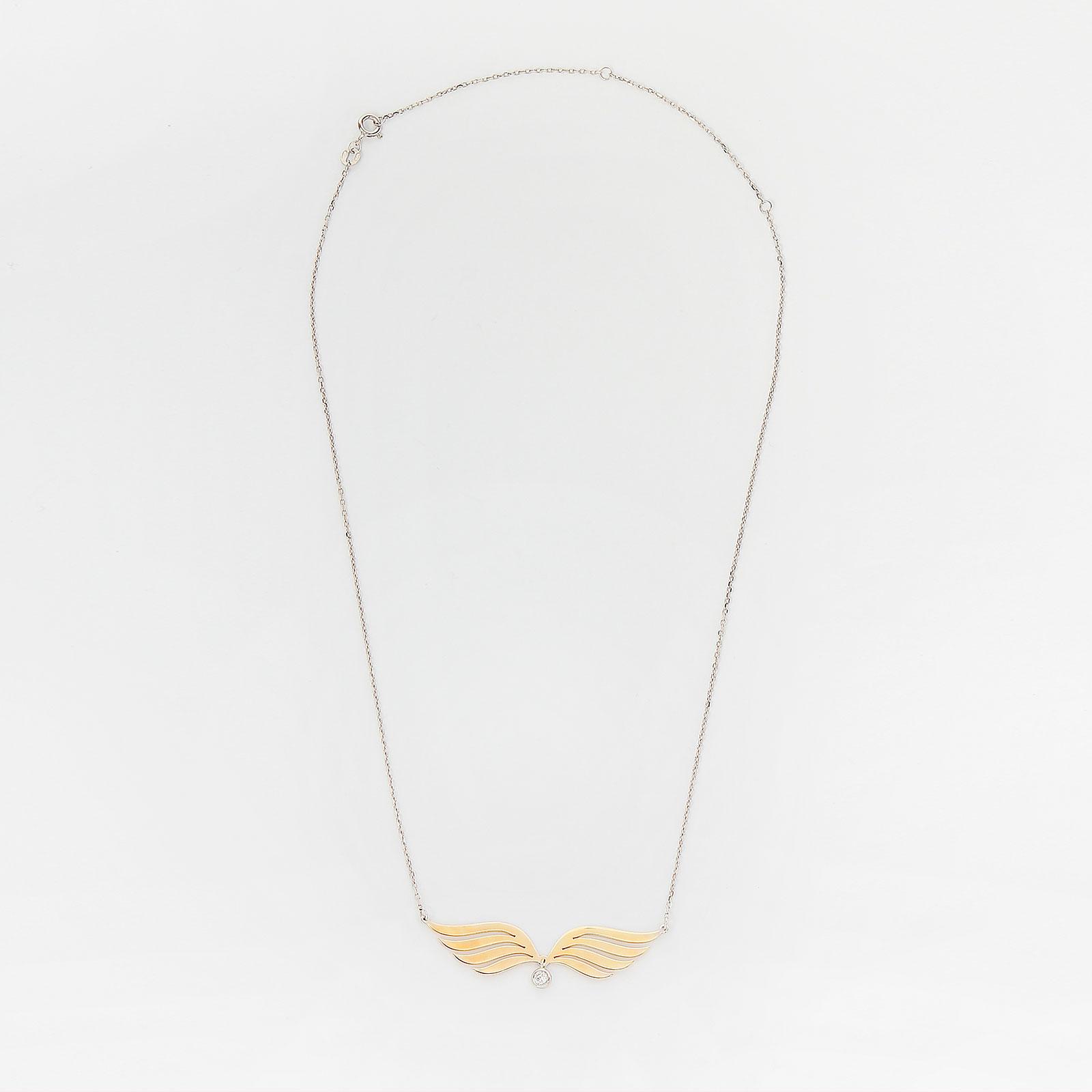 Серебряное колье «Крылья»