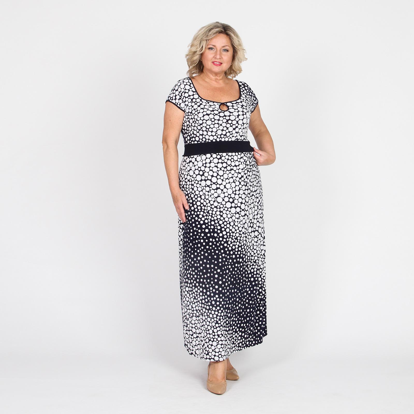 Платье-макси с принтом «Горох»