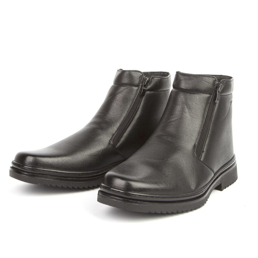 Ботинки мужские на утолщенной подошве и молнии
