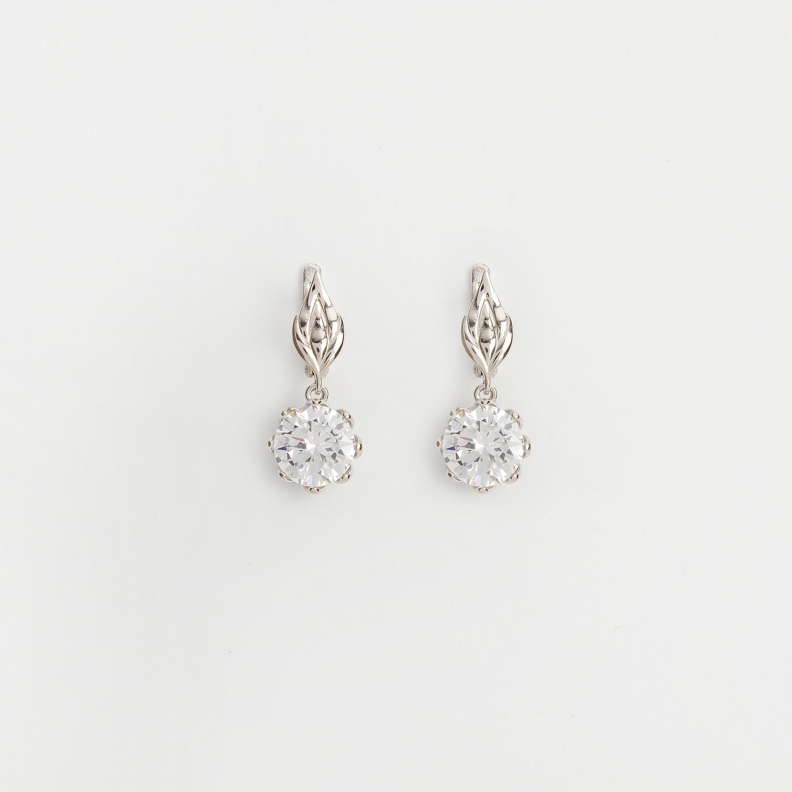 Серебряные серьги «Нежная роза»