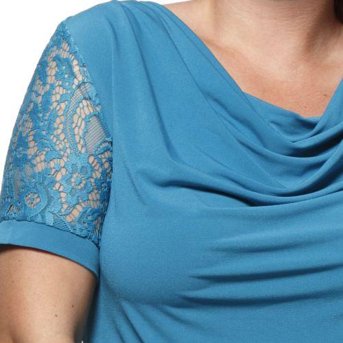 Блузка с воротником качели