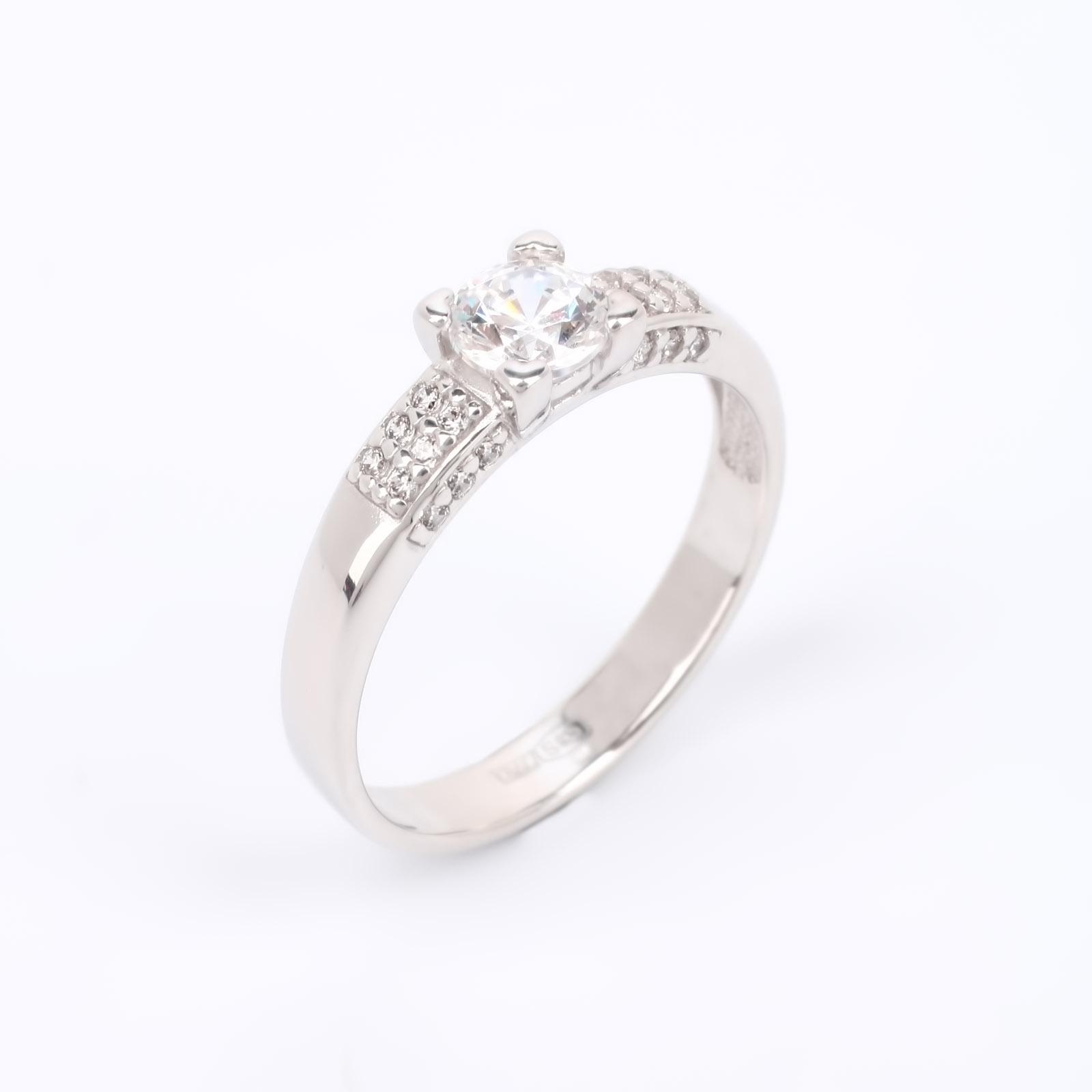 """Серебряное кольцо """"Любовь с первого взгляда"""""""