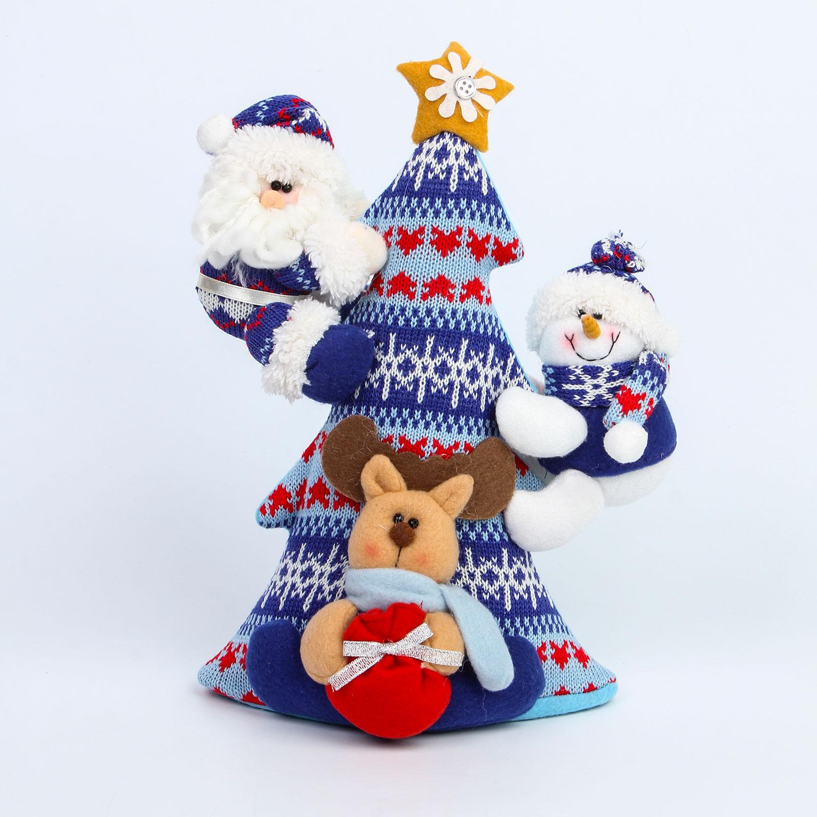 Вязаная елка «Новогодняя сказка»