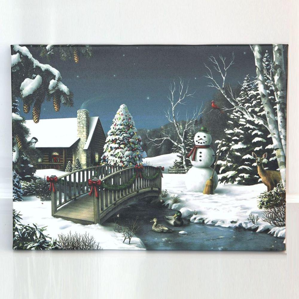 Светодиодная картина «Мост через реку»