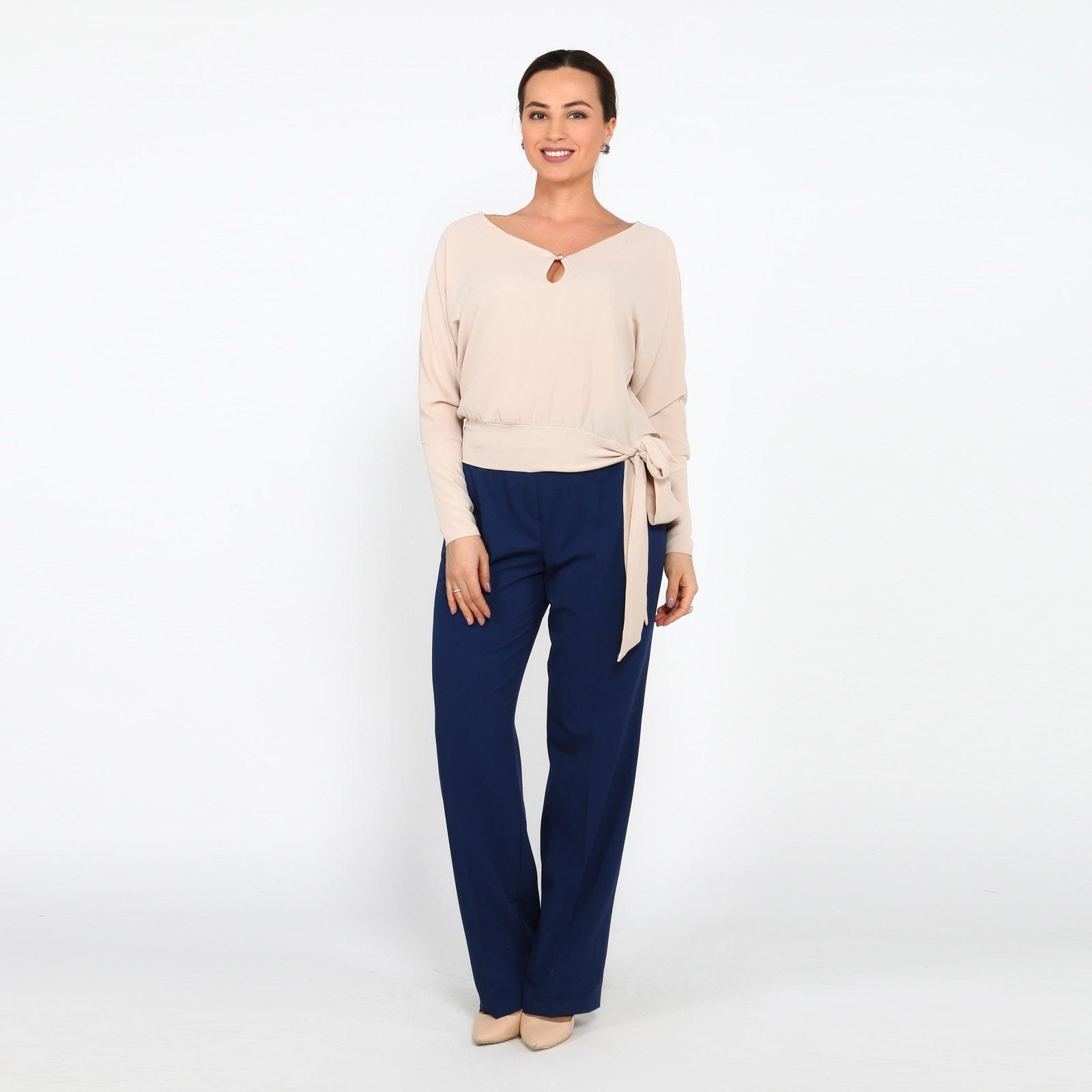 Блуза с завязками и контрастным принтом рубашка gerry weber gerry weber ge002ewwra96