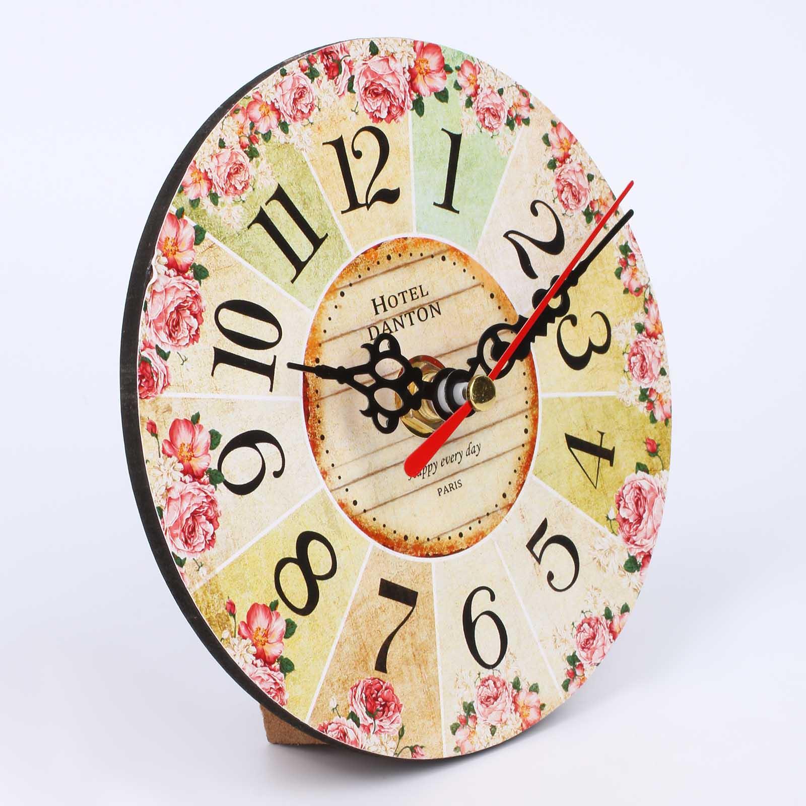 Часы настольные «Цветочный калейдоскоп»,12 см