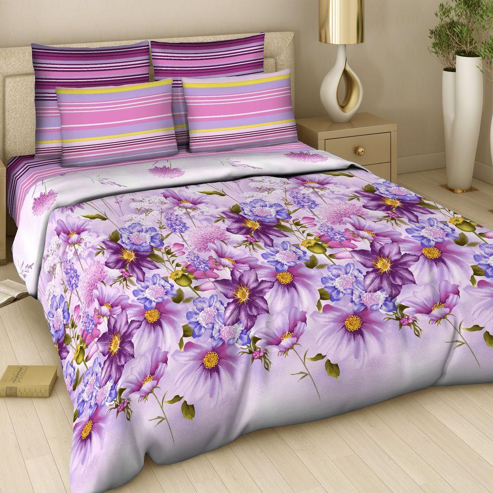Комплект постельного белья «Акварельный букет»