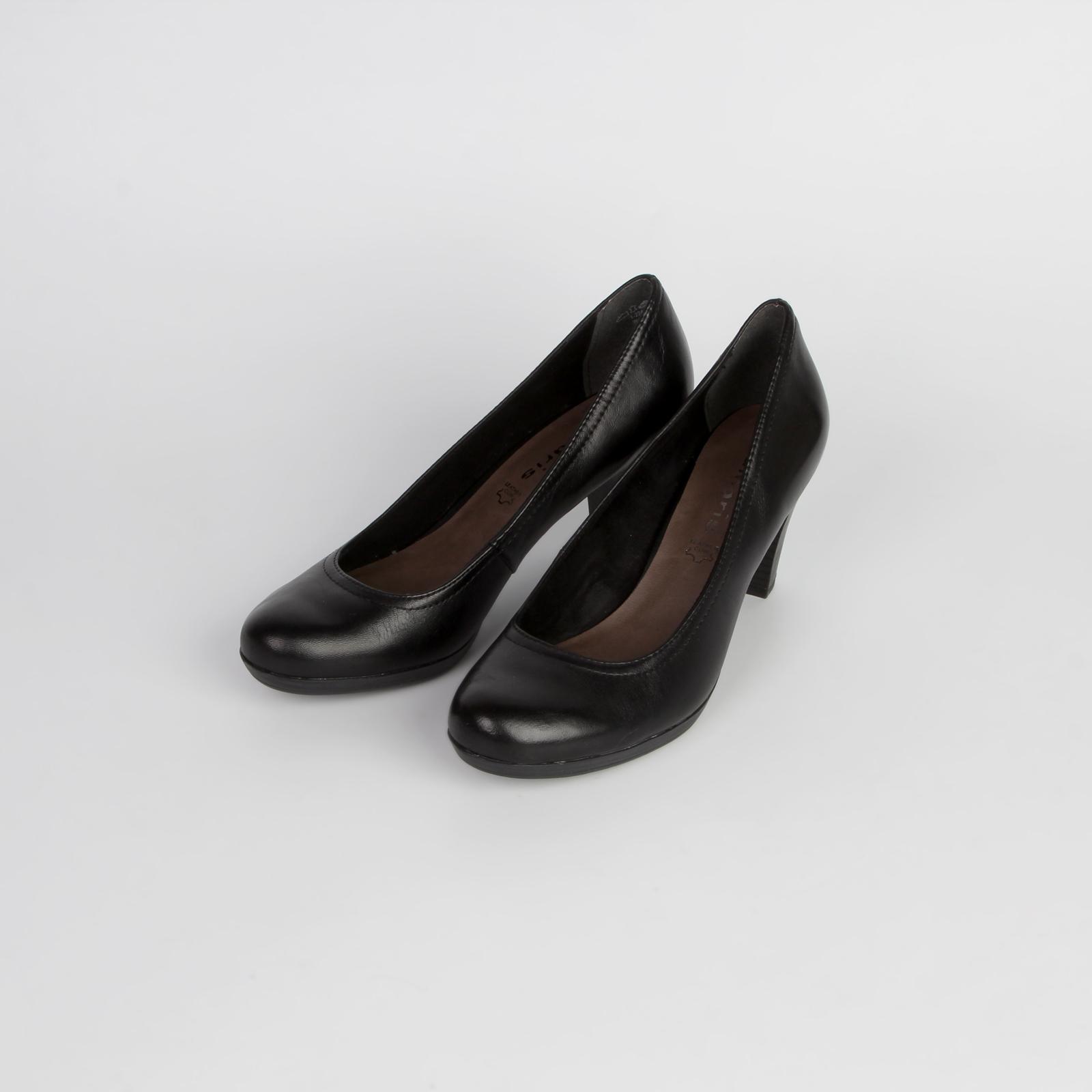 Туфли женские классические из натуральной кожи на удобном каблуке
