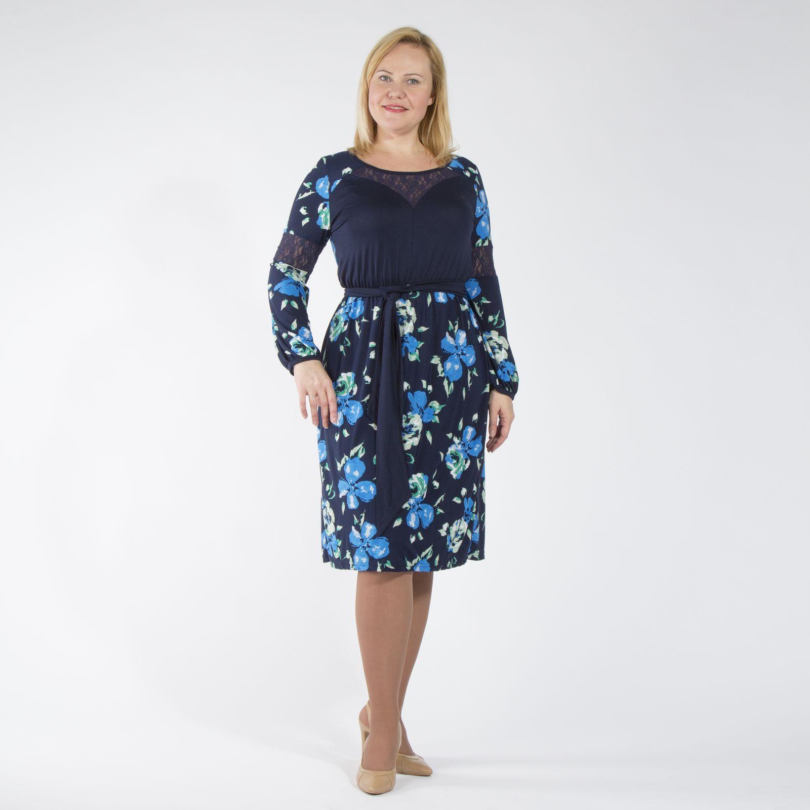 Платье оригинального дизайна с резинкой на талии и поясом в комплекте