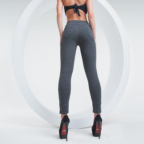 Трикотажные брюки-стрейч