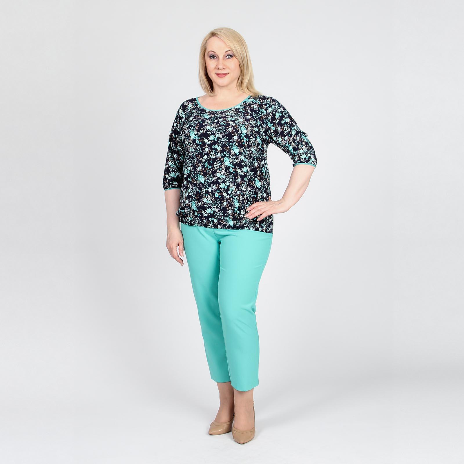 Блуза свободного кроя на резинке