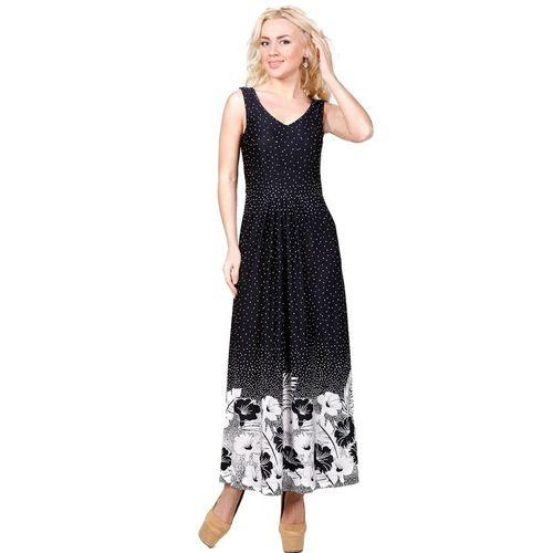 Платье-макси с черно-белым цветочным принтом платье с цветочным принтом