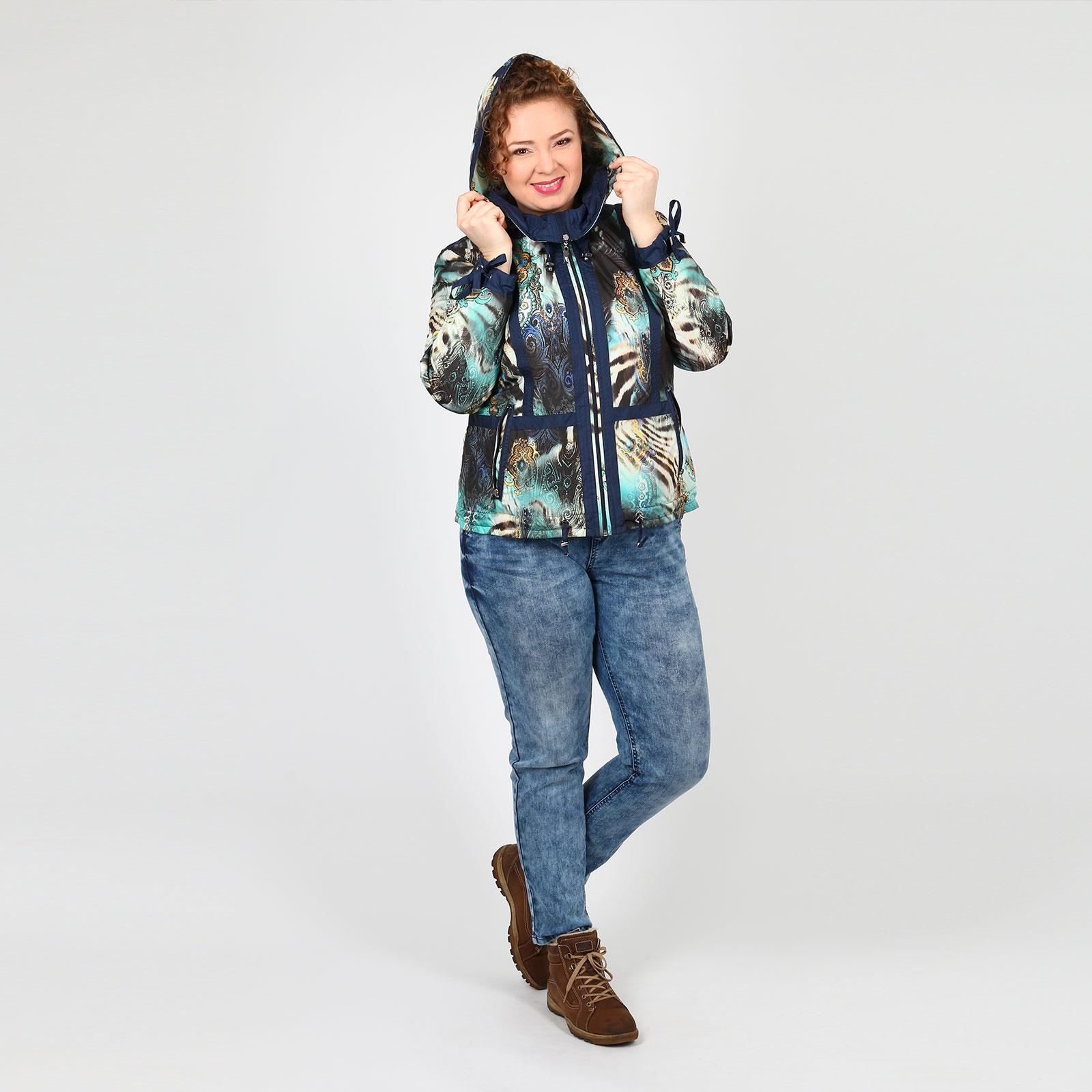 Куртка с оригинальным принтом
