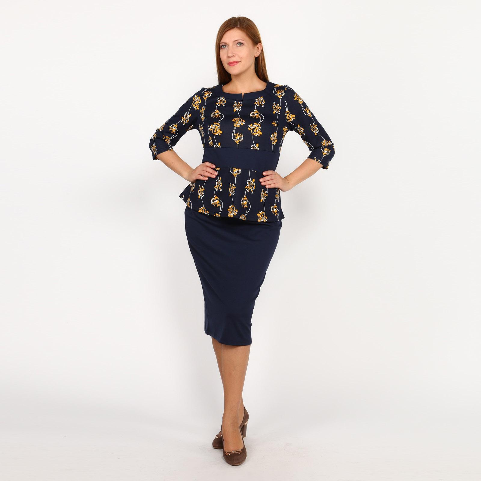 Костюм: блуза и юбка на резинке