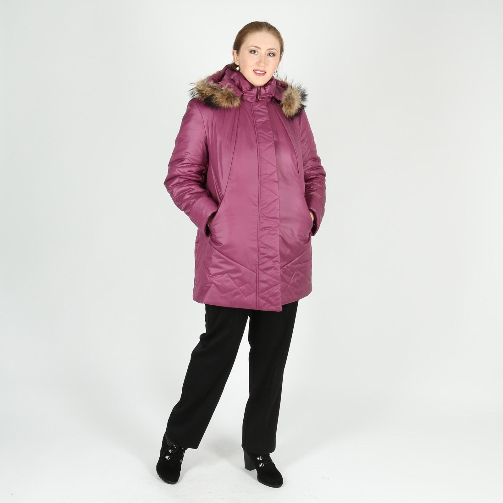 Куртка стеганая с натуральным мехом