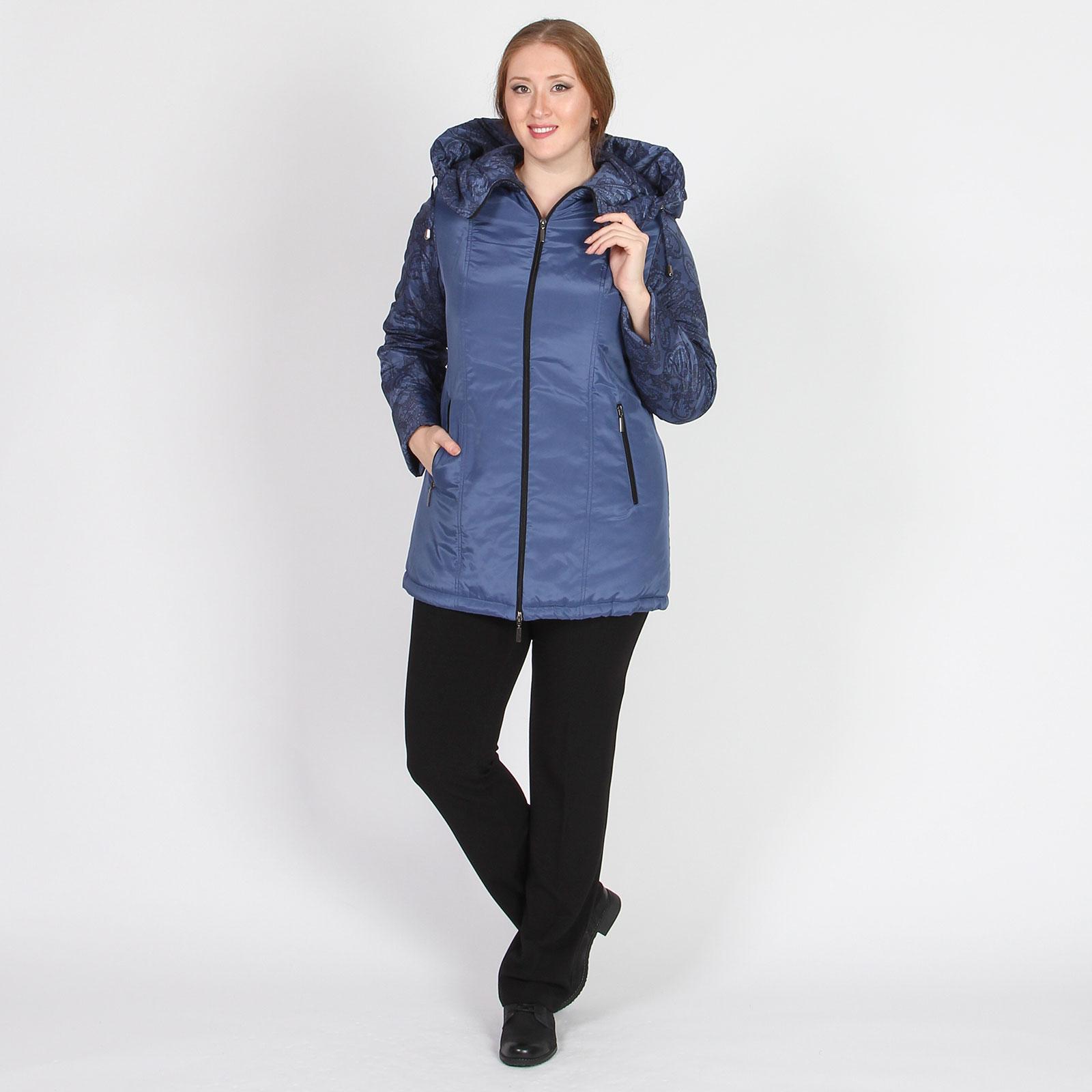 Куртка на молнии с ажурным узором и кулиской на спинке