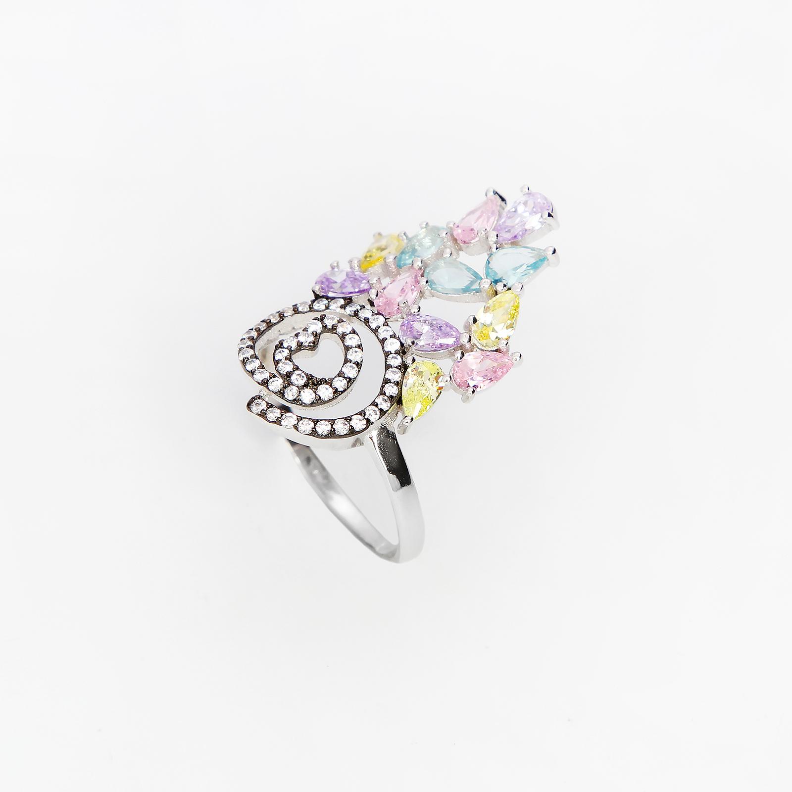 Серебряное кольцо «Фокстрот»