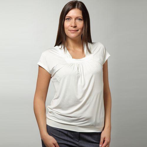 Блуза с необычным воротом и коротким рукавом