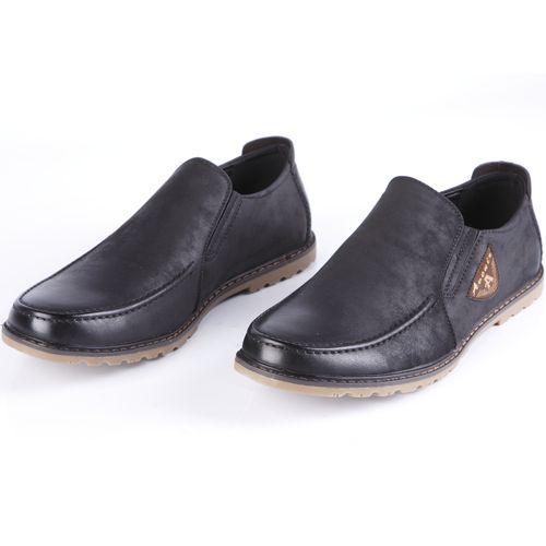Ботинки мужские на рифленой подошве украшенные строчкой