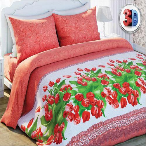 Комплект постельного белья «Красные тюльпаны»