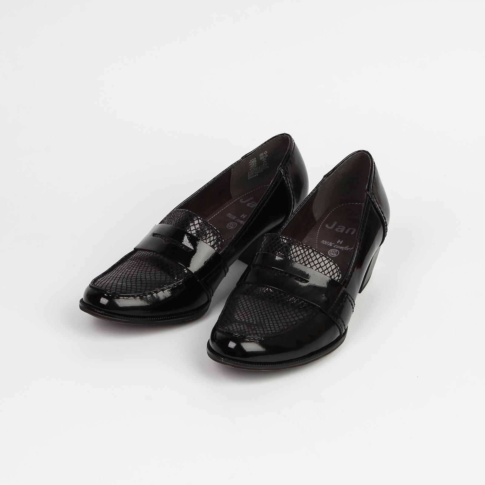 Туфли женские со вставкой под «рептилию»