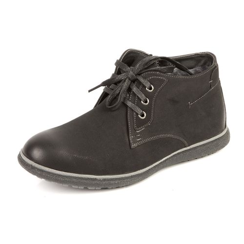Удобные мужские ботинки на утолщенной подошве со шнуровкой