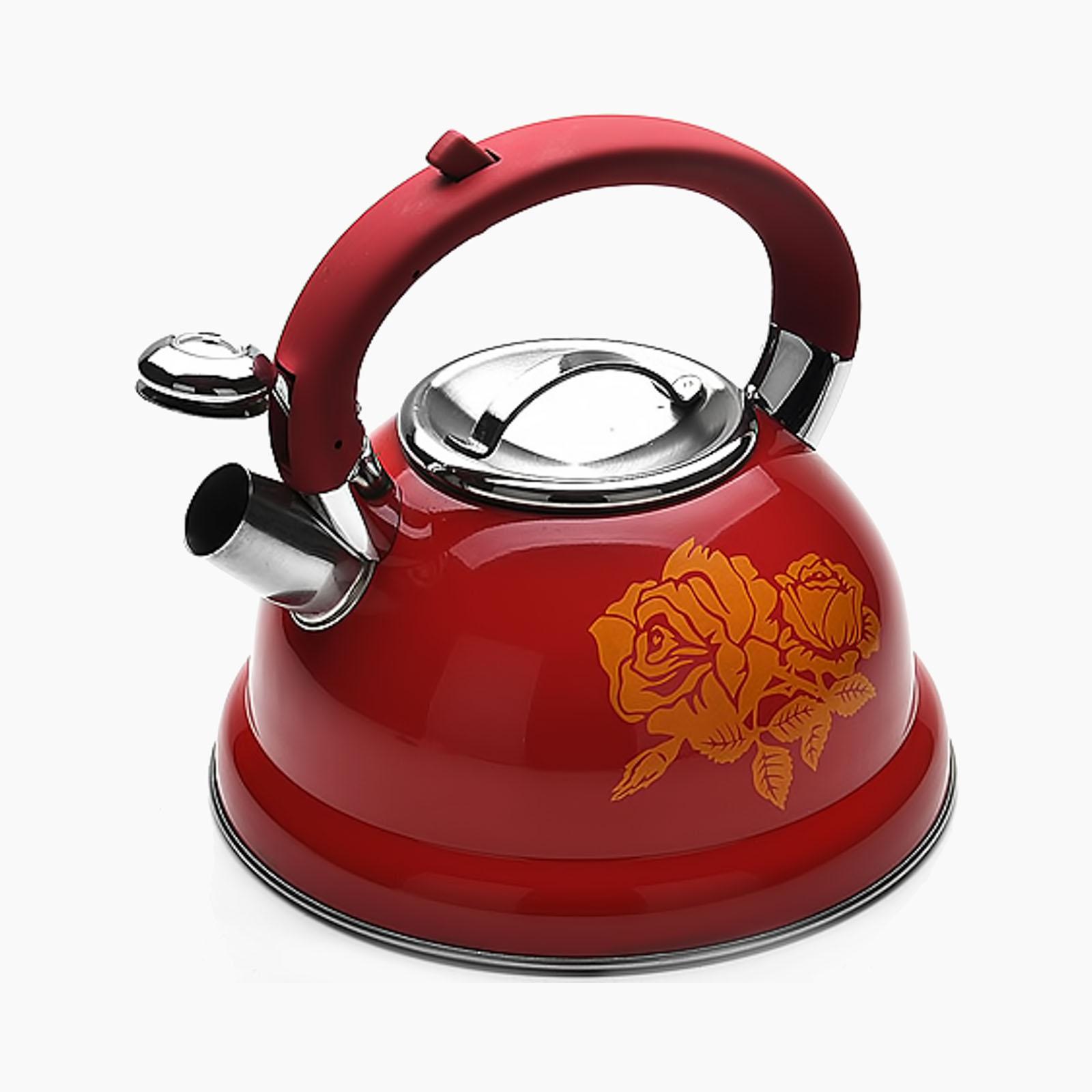 "Чайник со свистком ""Роза страсти"", 2,6 литра"