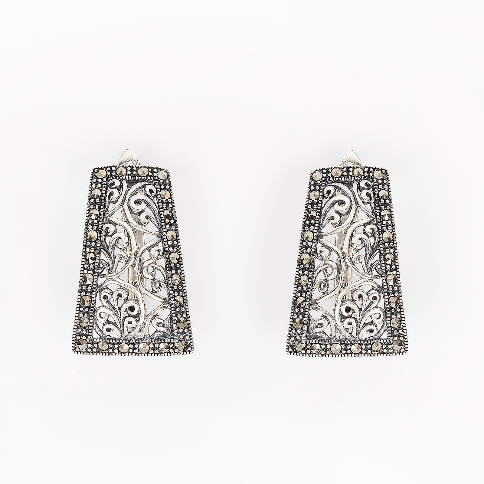 Серебряные серьги «Модерн»