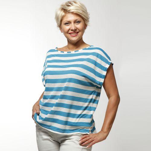 Блуза с принтом «полоска»