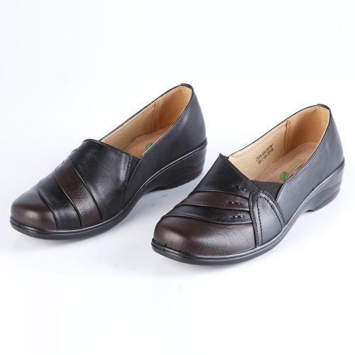 Туфли женские с украшенным мысом на утолщенной подошве