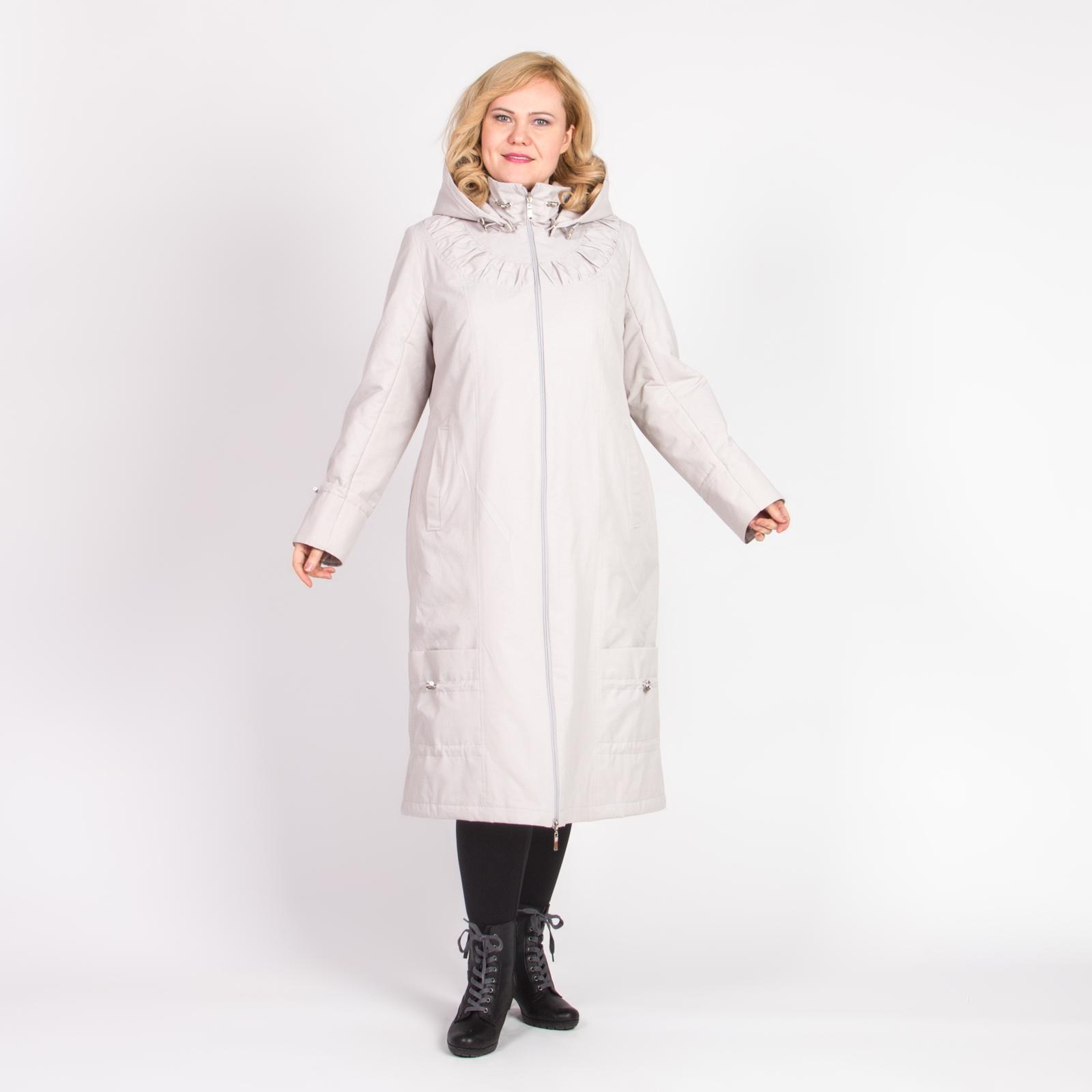Пальто с капюшоном, карманами и оригинальными кулисками