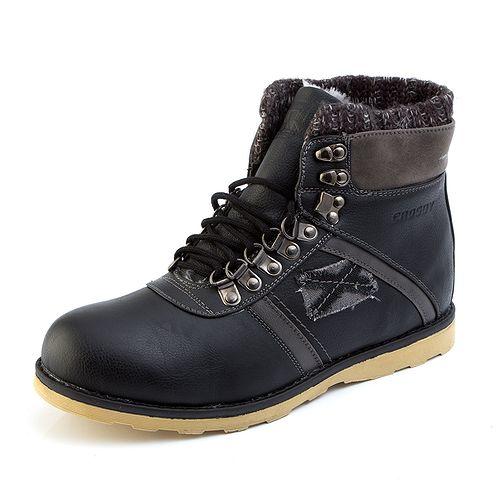 Мужские ботинки с шерстяной вставкой